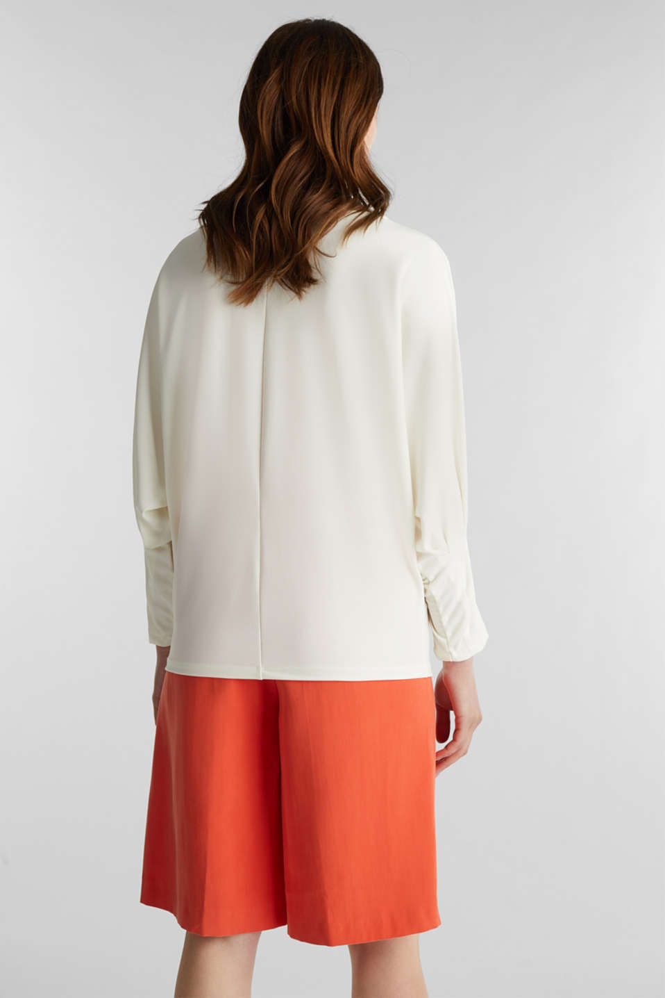 Long sleeve top with batwing sleeves, OFF WHITE, detail image number 3