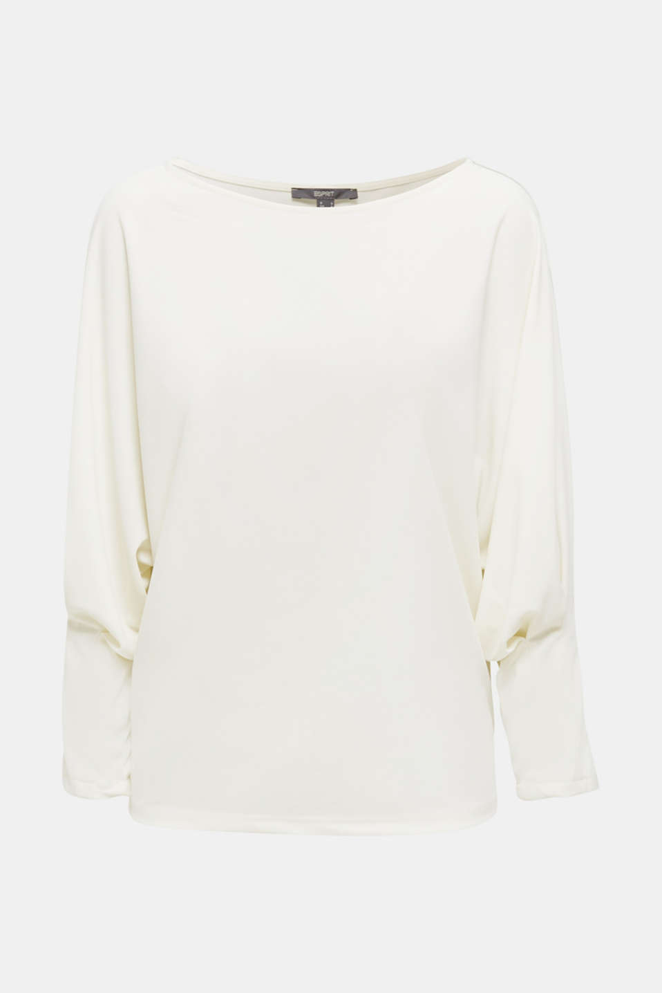 Long sleeve top with batwing sleeves, OFF WHITE, detail image number 5