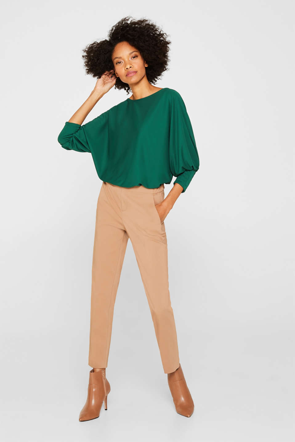 T-Shirts, BOTTLE GREEN, detail image number 0