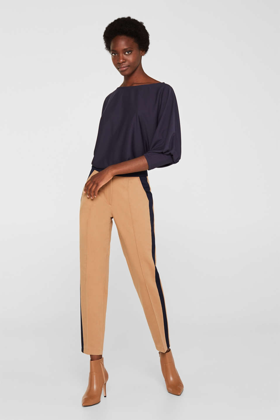 Long sleeve top with batwing sleeves, NAVY, detail image number 6