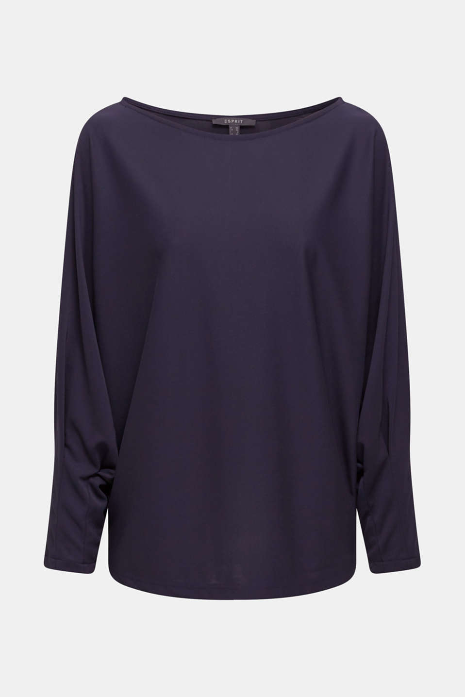 Long sleeve top with batwing sleeves, NAVY, detail image number 7