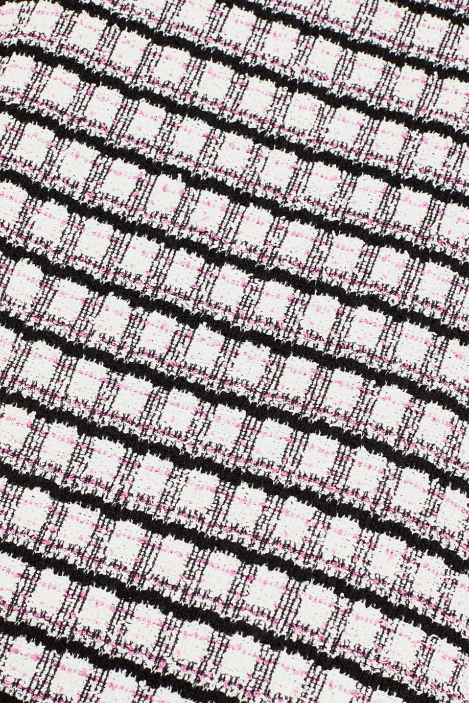 Bouclé top with check pattern, PINK, detail image number 4