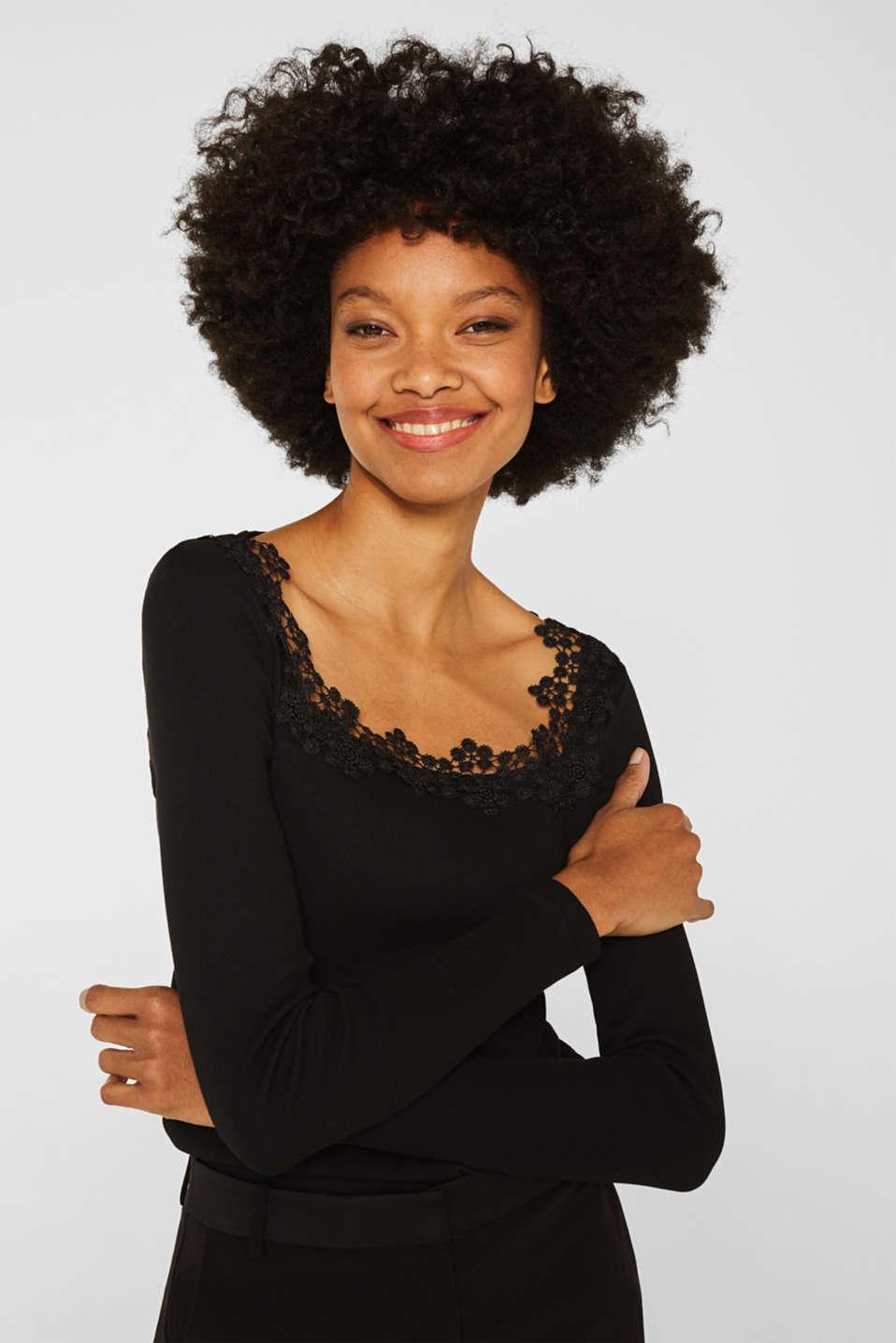 T-Shirts, BLACK, detail image number 0