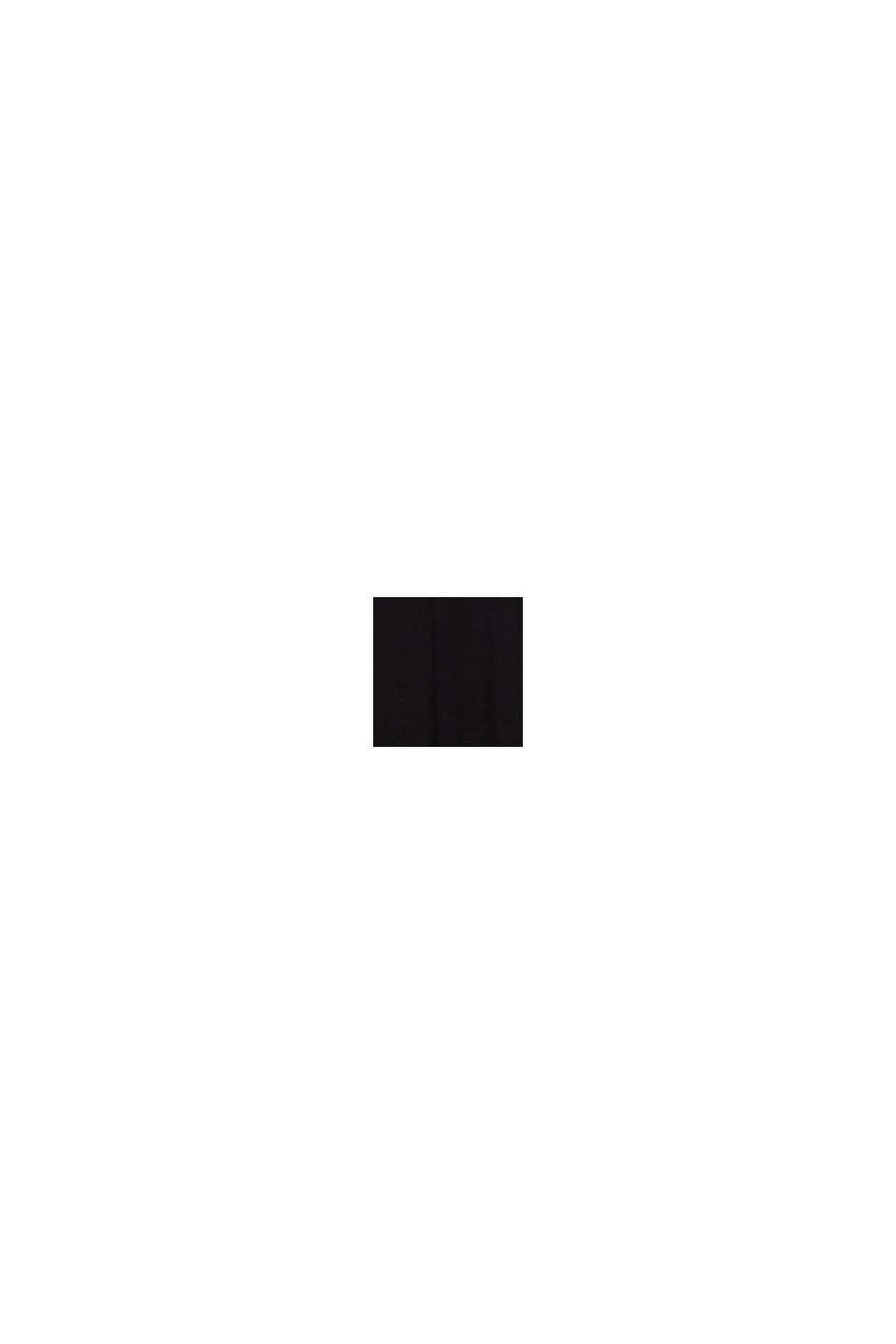 Jersey jumpsuit met kanten mouwen, BLACK, swatch