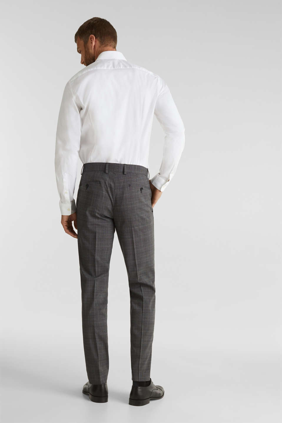 GLENCHECK mix + match: Trousers with Prince of Wales check pattern, DARK GREY 3, detail image number 1