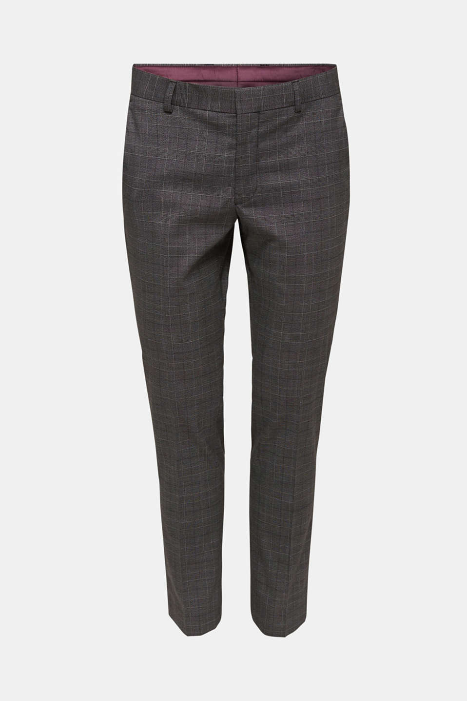 GLENCHECK mix + match: Trousers with Prince of Wales check pattern, DARK GREY 3, detail image number 5