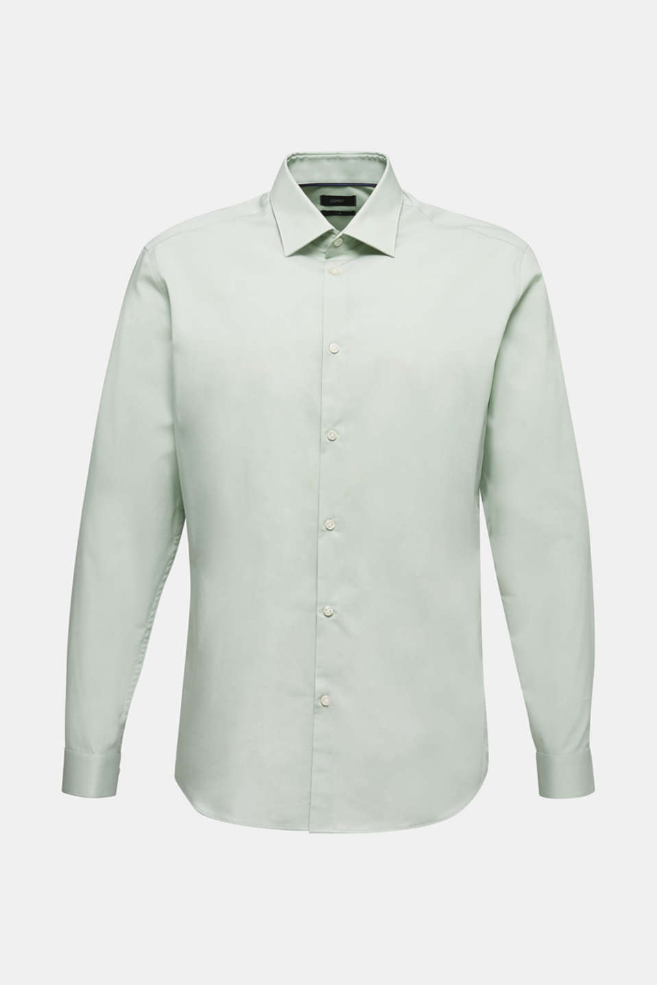 Shirt with mechanical stretch, 100% cotton, LIGHT GREEN 5, detail image number 0
