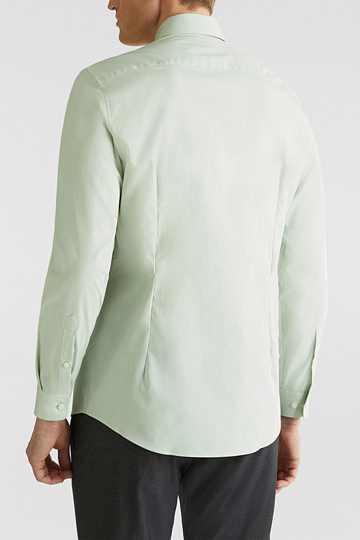 Shirt with mechanical stretch, 100% cotton, LIGHT GREEN, detail image number 3