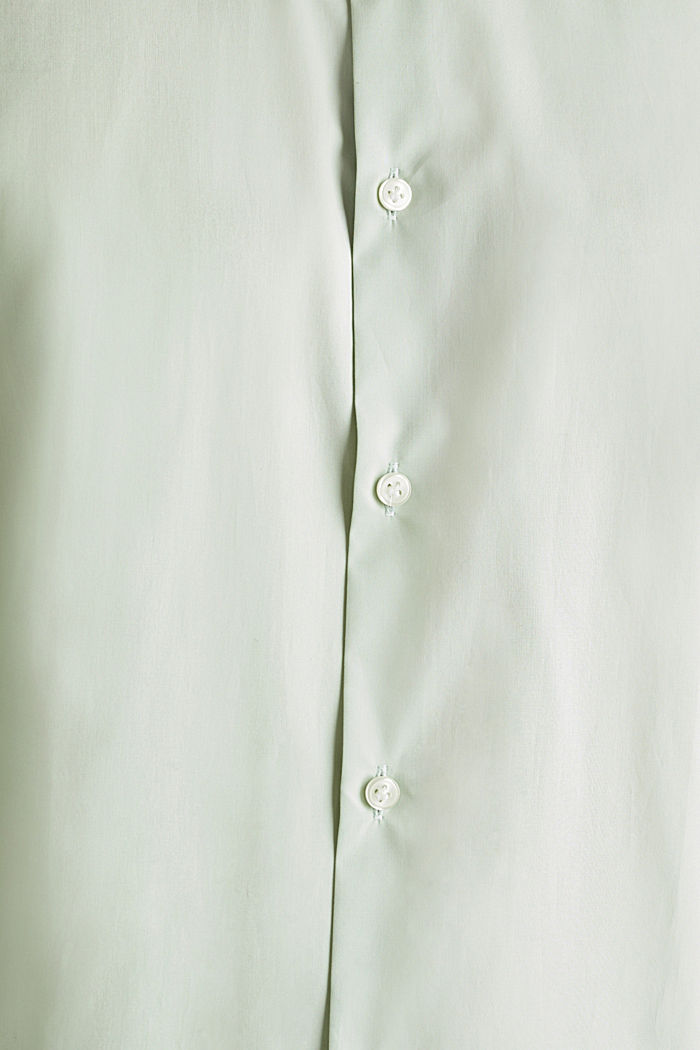 Shirt with mechanical stretch, 100% cotton, LIGHT GREEN, detail image number 4