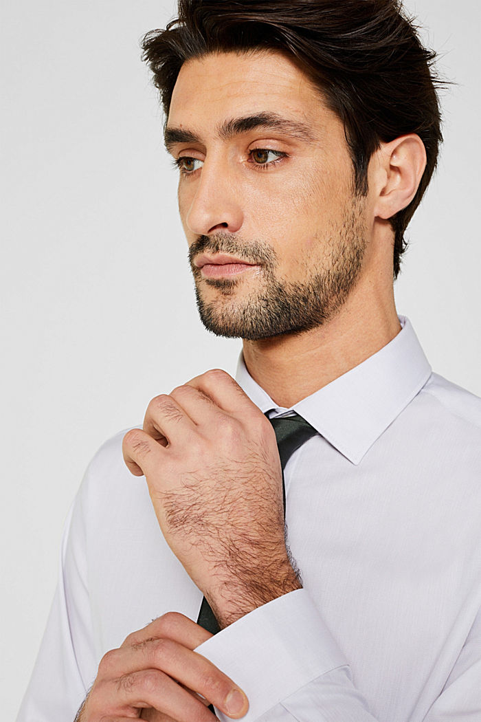 Herringbone shirt with mechanical stretch, LIGHT GREY, detail image number 2
