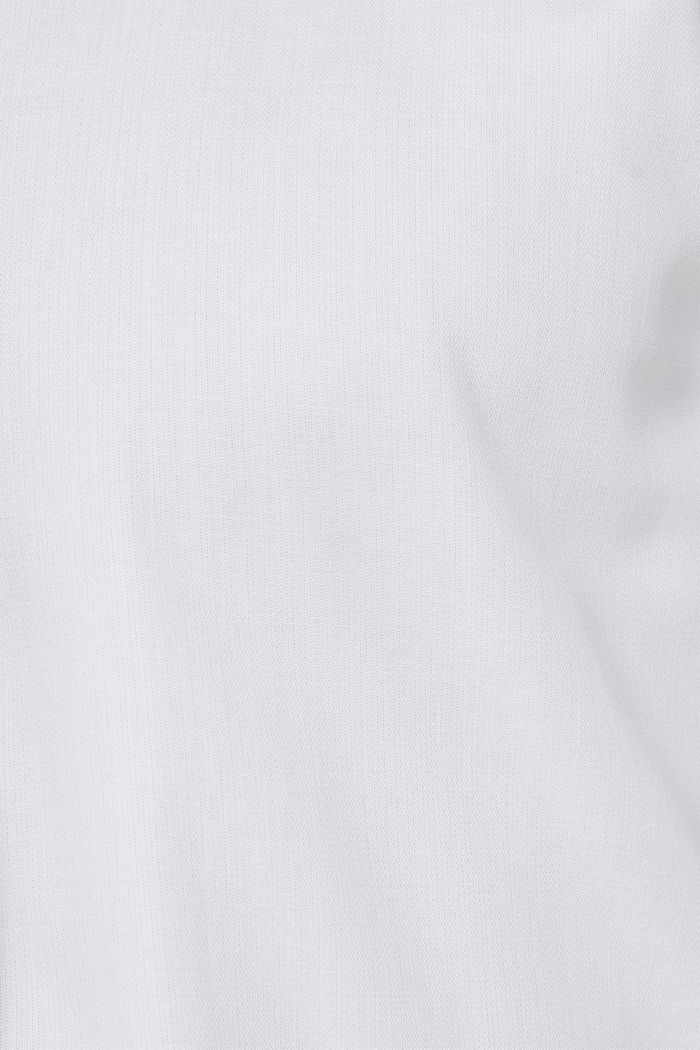 Herringbone shirt with mechanical stretch, WHITE, detail image number 4