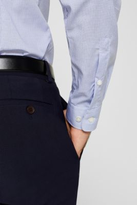 Herringbone shirt with mechanical stretch, LIGHT BLUE 5, detail