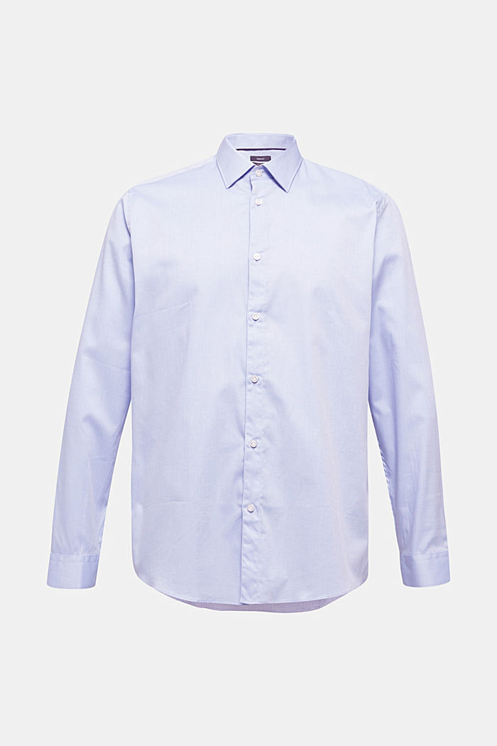 Herringbone shirt with mechanical stretch