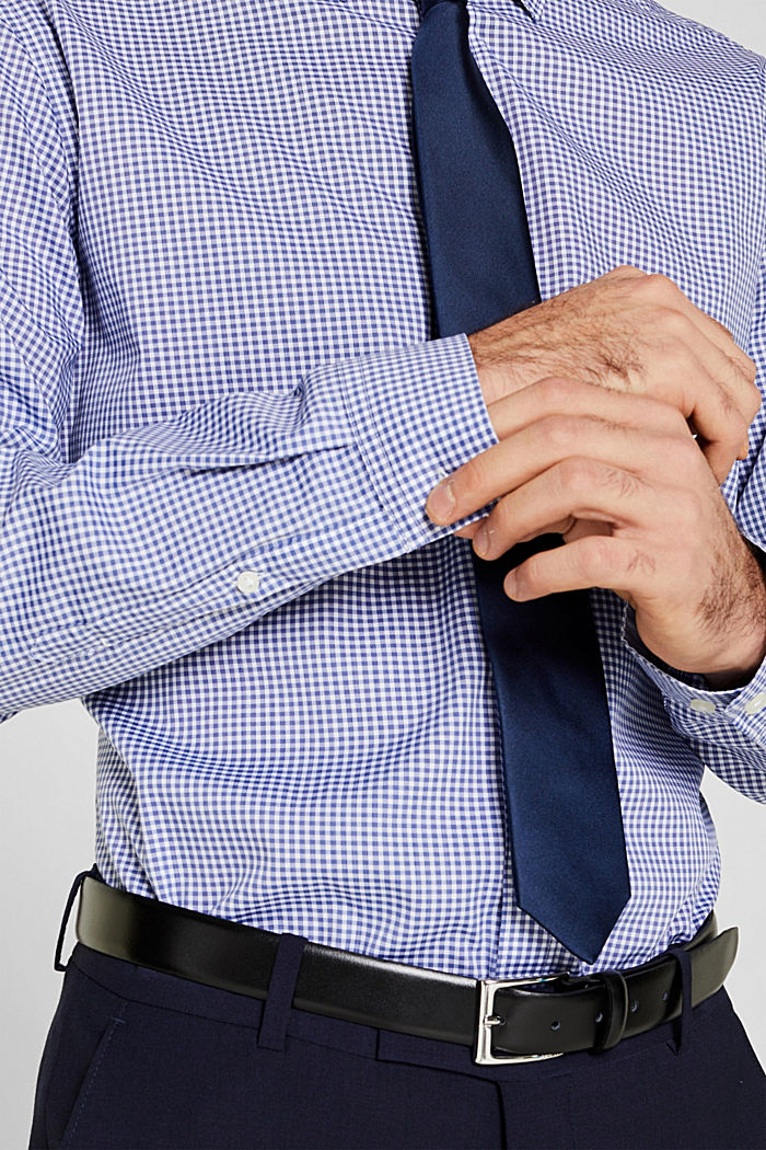 Shirt with mechanical stretch, BLUE, detail image number 2