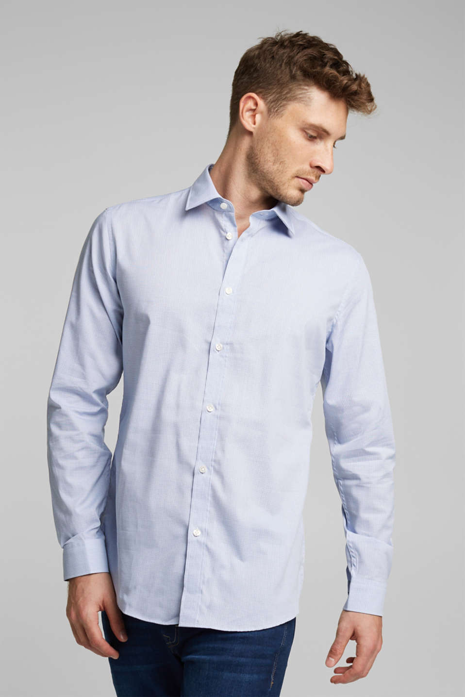 Shirts woven Slim fit, LIGHT BLUE 3, detail image number 0