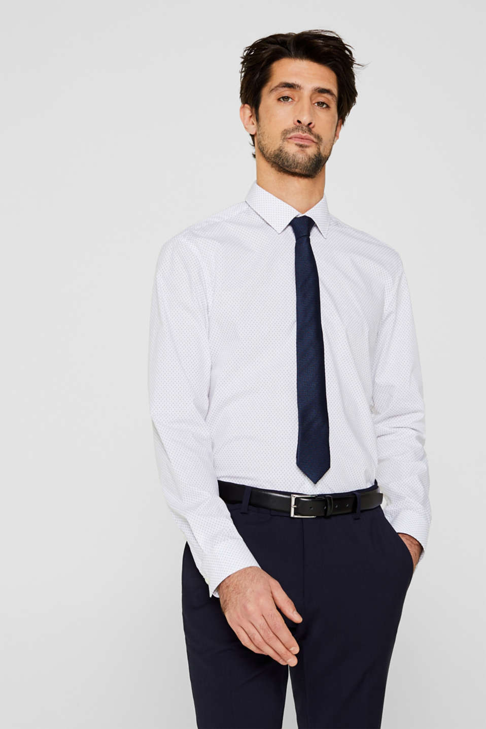Esprit - Shirt with mechanical stretch
