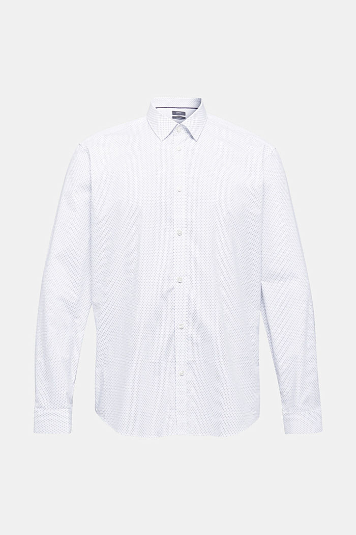 Shirt with mechanical stretch, WHITE, overview