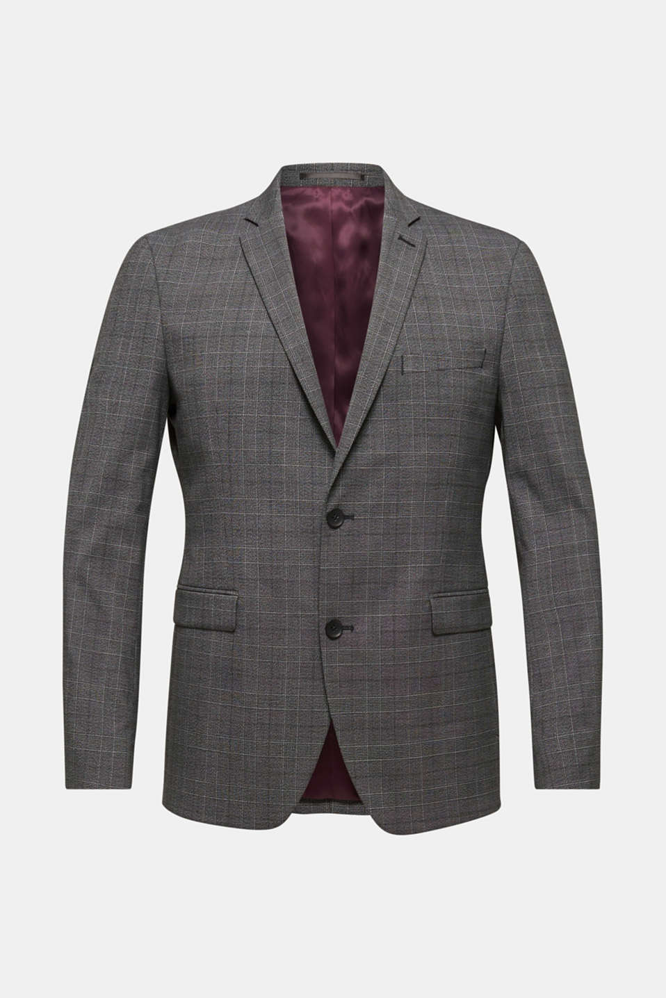 GLENCHECK mix + match: sports jacket with Prince of Wales checks, DARK GREY 3, detail image number 7