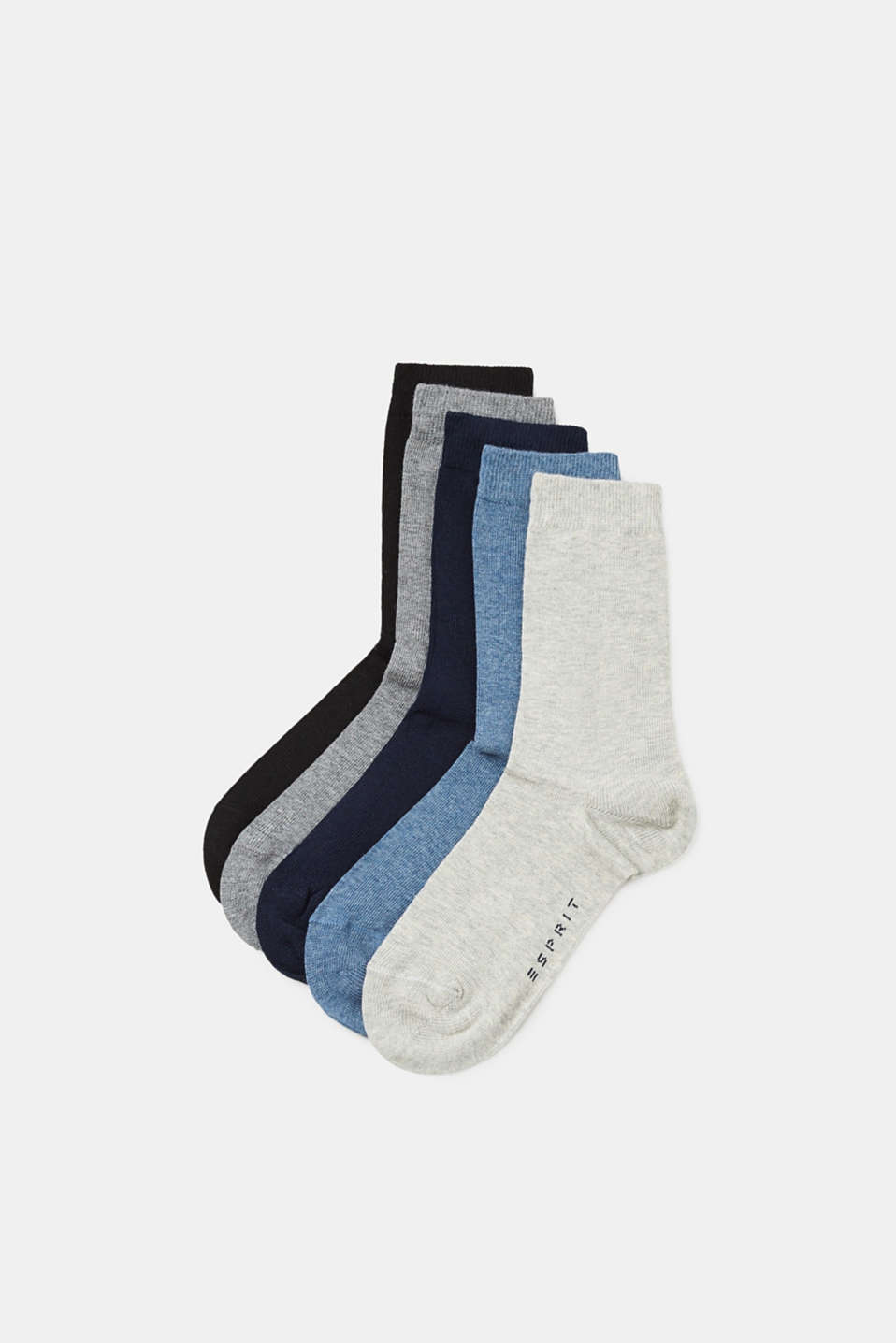 Esprit - Five pack of plain-coloured socks