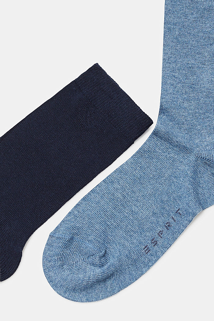 5er-Pack einfarbige Socken, BLUE/GREY/WHITE, detail image number 1