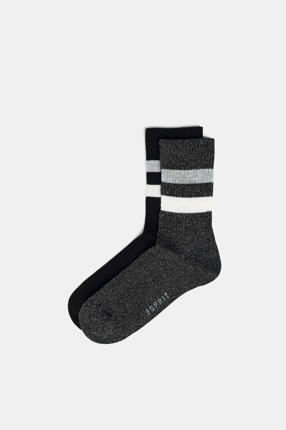Esprit - Double pack of socks with stripes