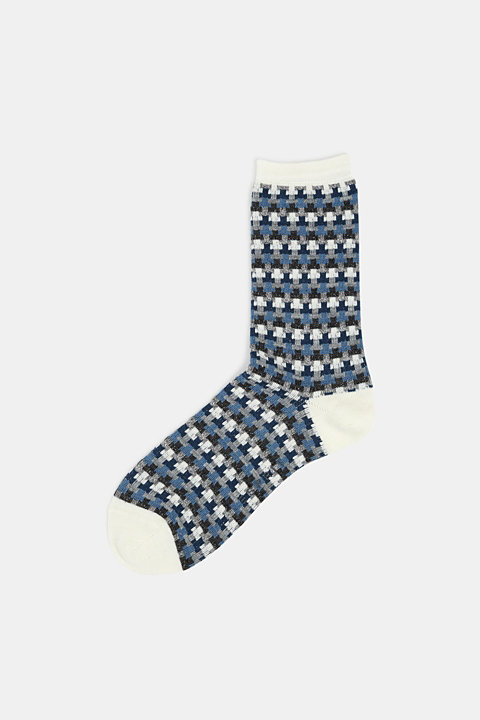 With new wool: jacquard socks with a glitter effect