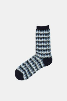 With new wool: jacquard socks with a glitter effect, MARINE, detail