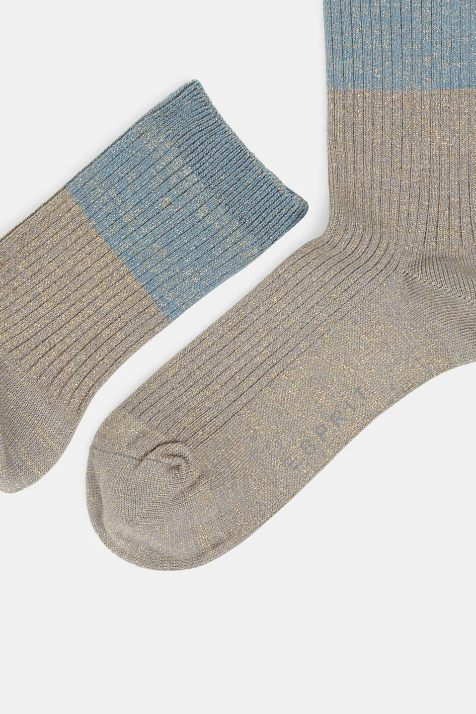 Fine knit socks with a glitter effect, MOUSE GREY, detail image number 1