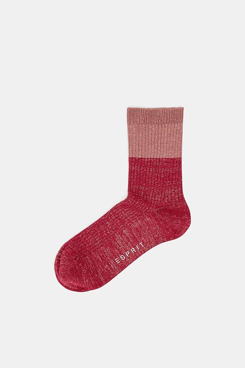 Fine knit socks with a glitter effect
