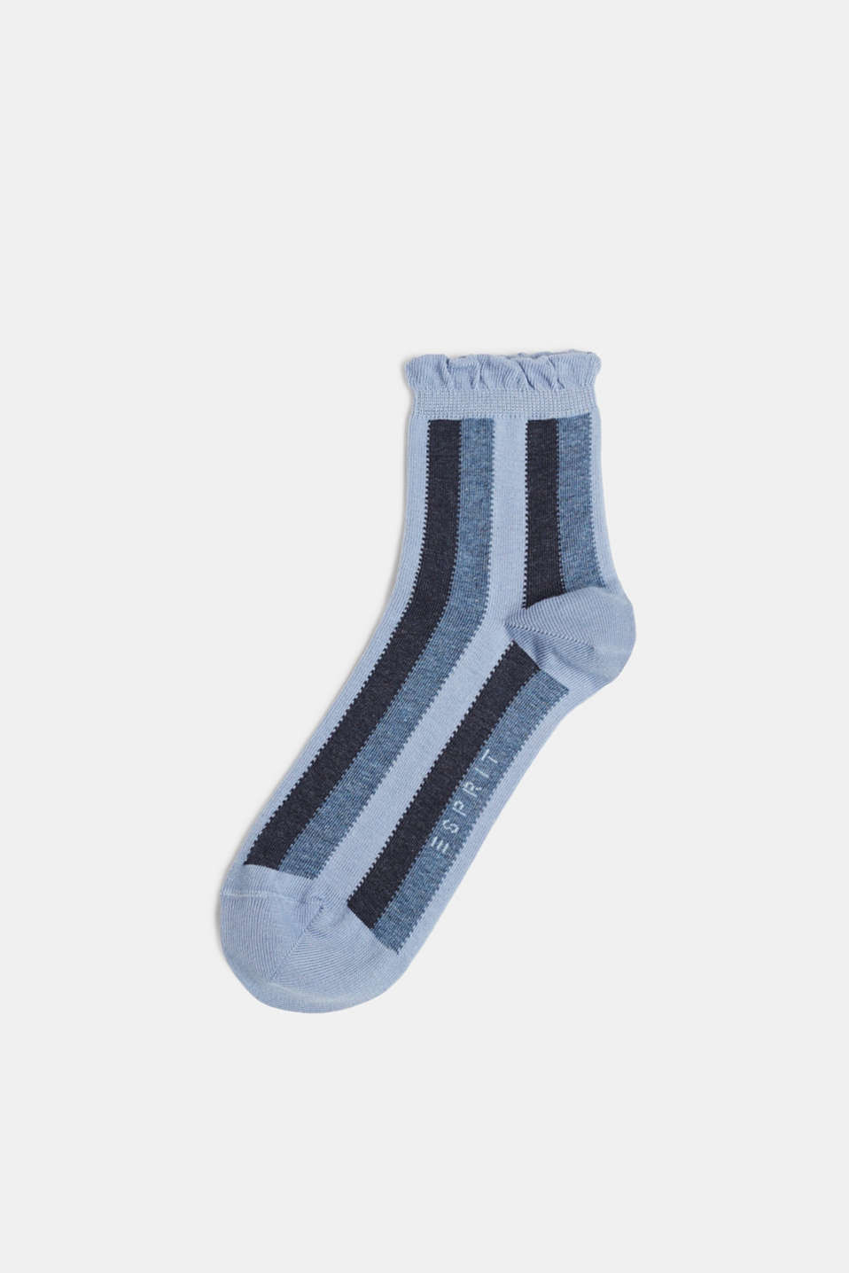 Socks with frilled edge, SUMMER SKY, detail image number 0