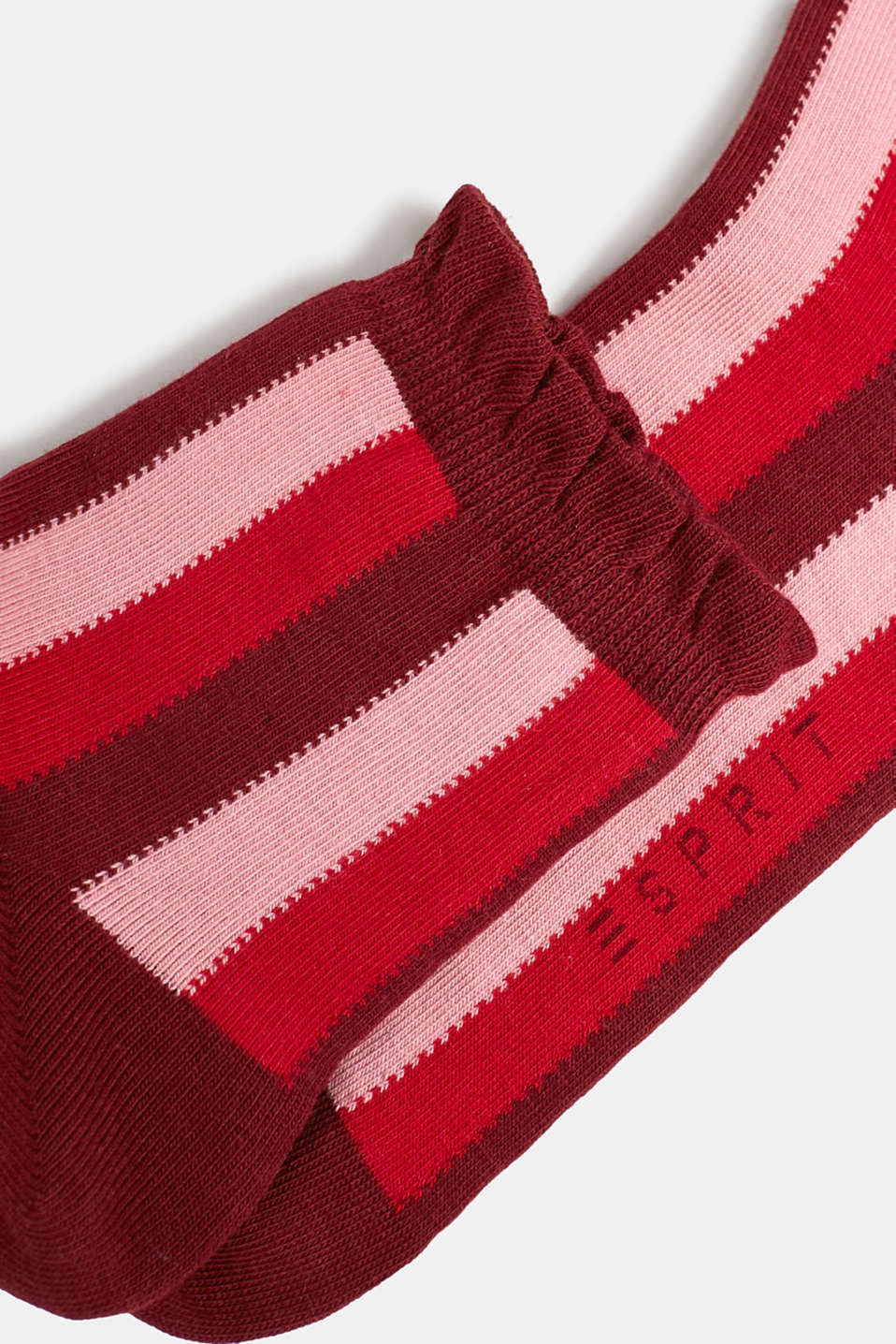 Socks with frilled edge, GARNET, detail image number 1