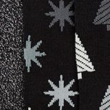 3-pack of socks with glitter accents, BLACK, swatch