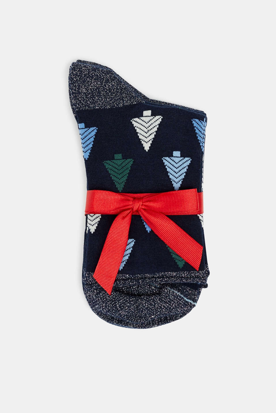3-pack of socks with glitter accents, MARINE, detail image number 2