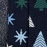 3-pack of socks with glitter accents, MARINE, swatch