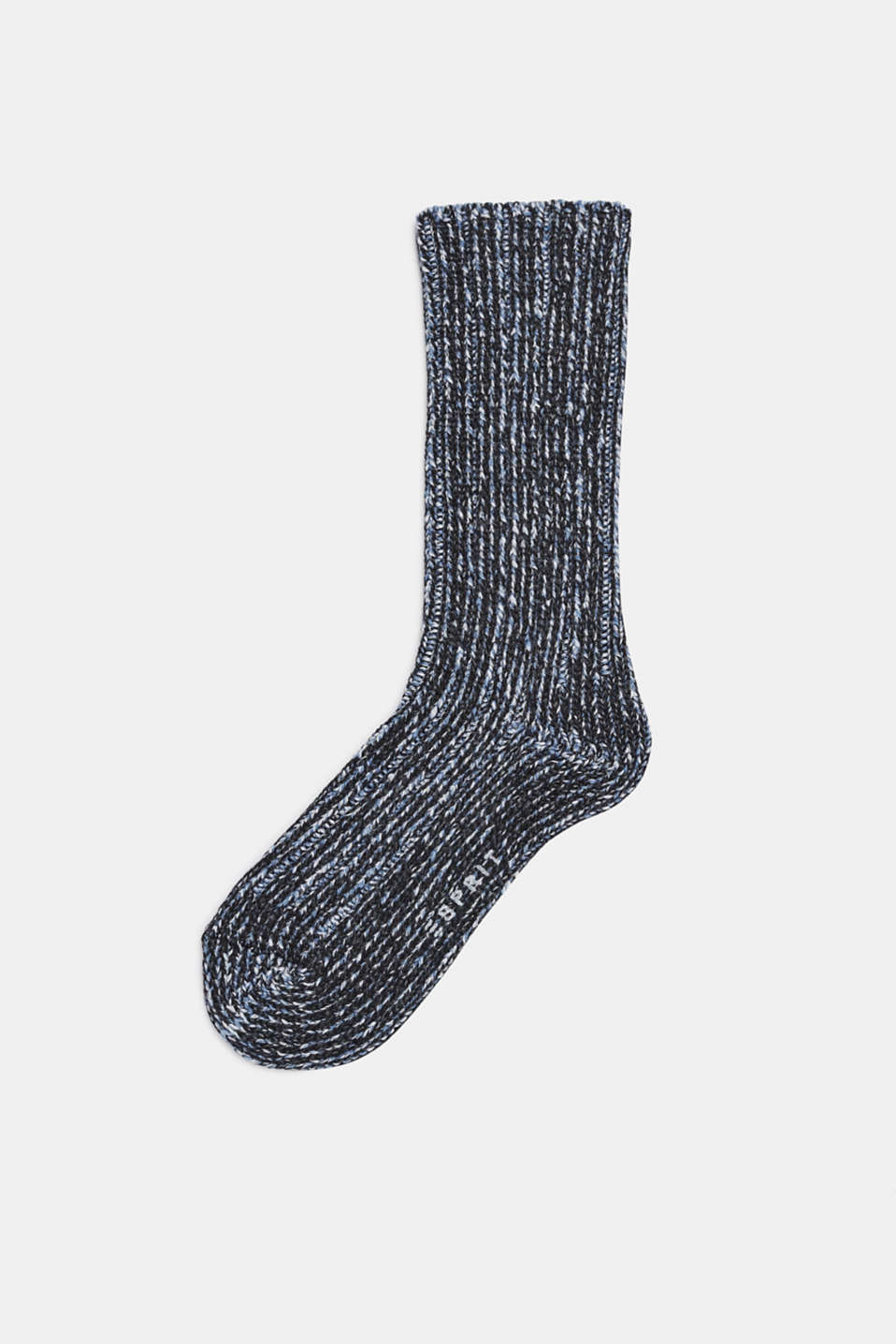 With wool and cashmere: knitted socks, BLACK, detail image number 0
