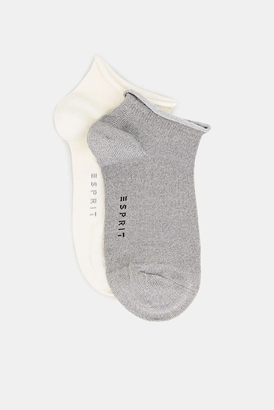 In a double pack: Trainer socks with glitter, SORTIMENT, detail image number 0