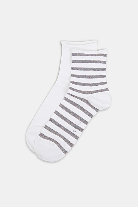 Double pack: plain and striped socks