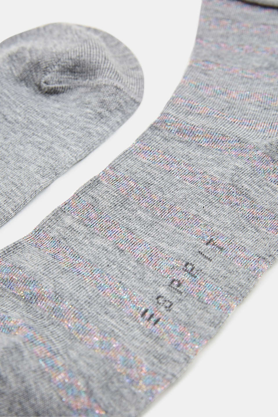 Double pack: plain and striped socks, LIGHT GREY, detail image number 1