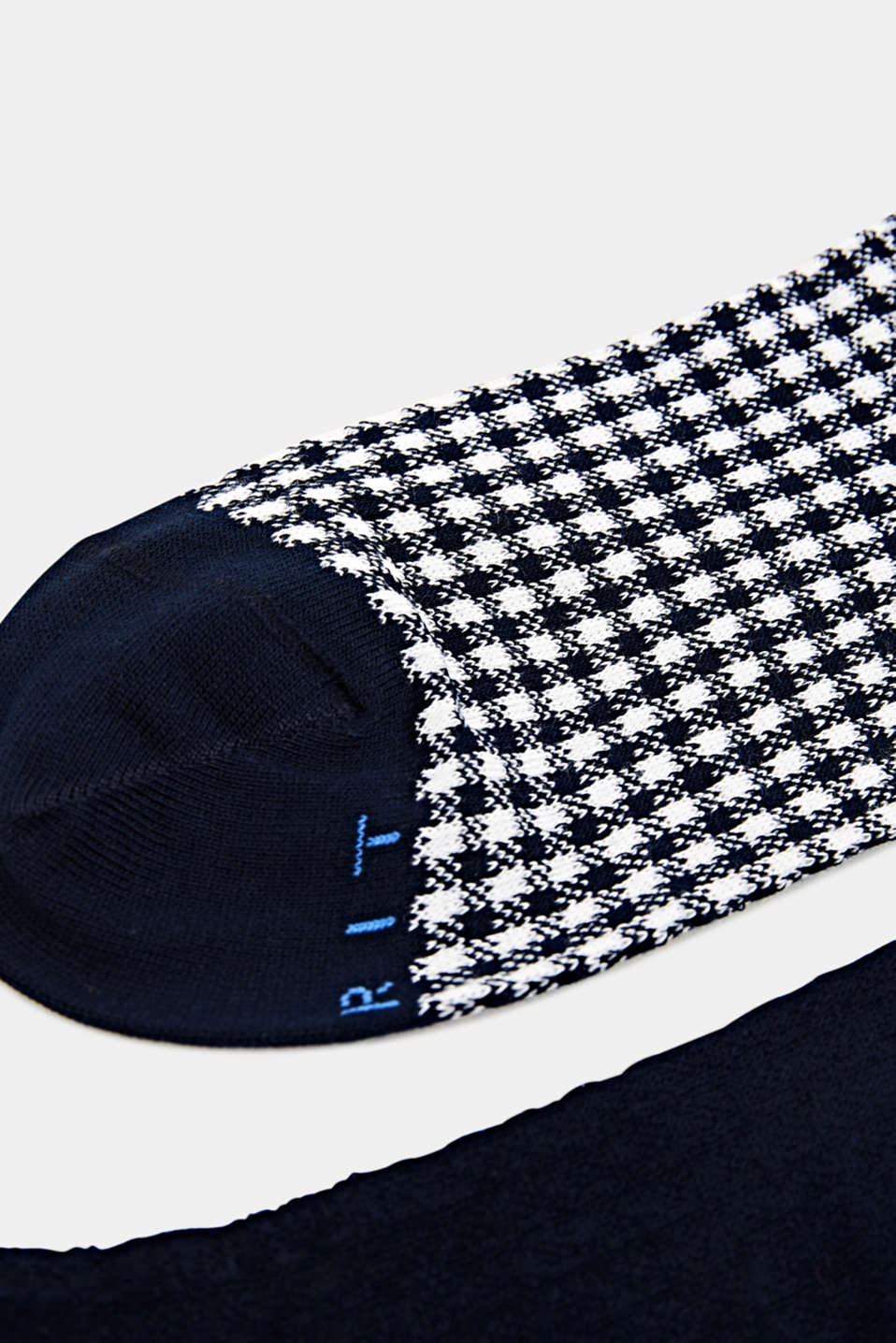 Houndstooth socks in a triple pack, MARINE, detail image number 1