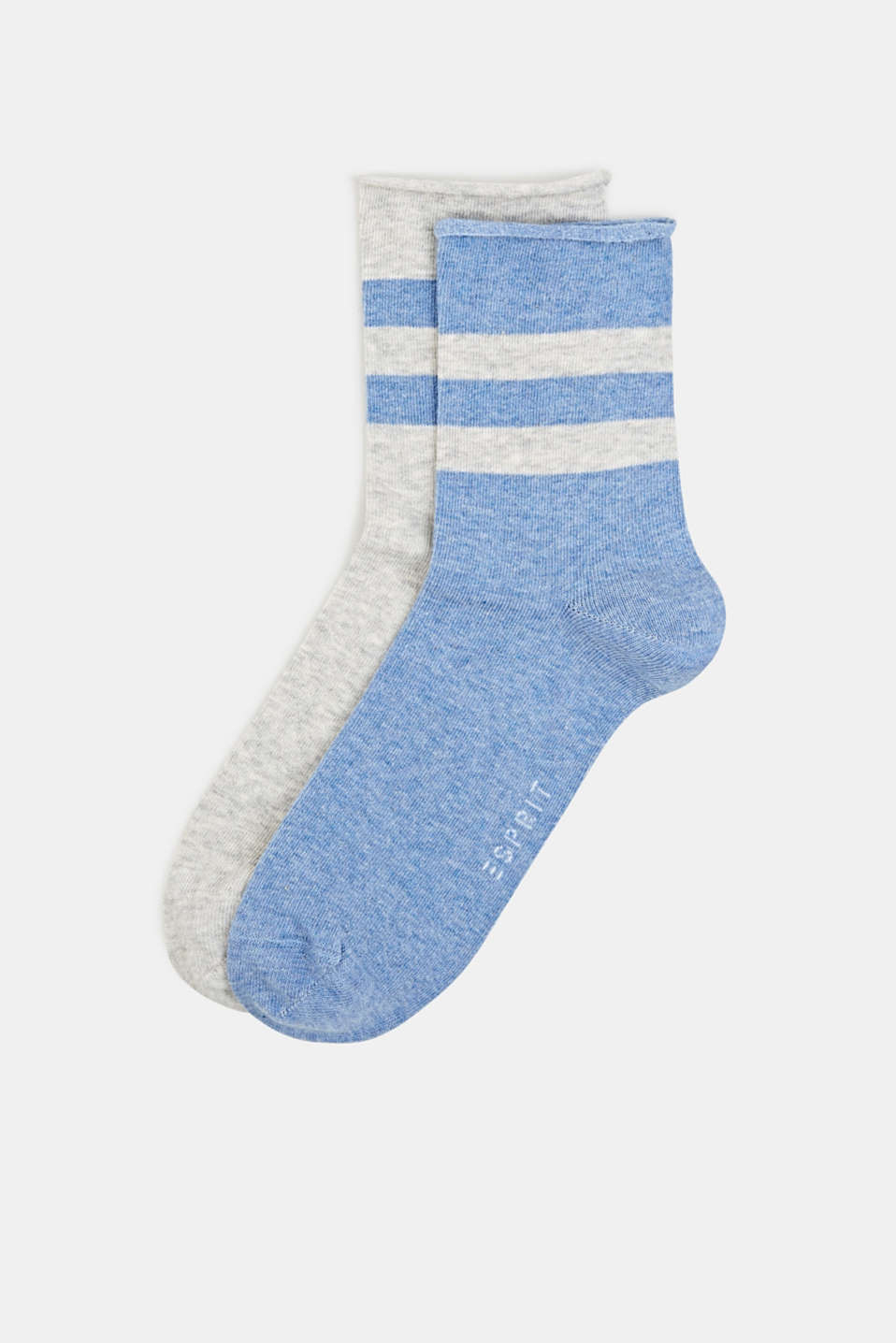 Double pack: socks with perfectly positioned stripes, SORTIMENT, detail image number 0