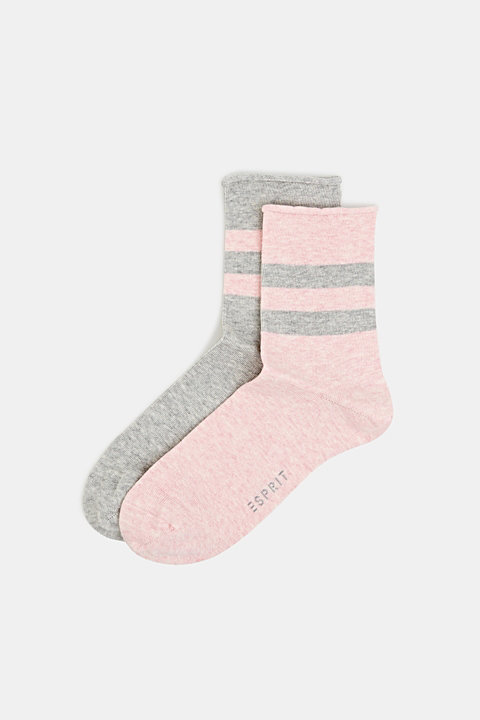 Double pack: socks with perfectly positioned stripes