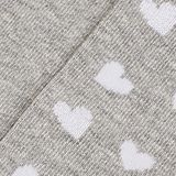 In a double pack: Socks with intarsia hearts, LIGHT GREY, swatch
