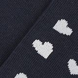 In a double pack: Socks with intarsia hearts, MARINE, swatch