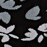 Floral patterned socks, BLACK, swatch