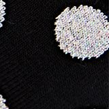 Socks with glittering polka dots, BLACK, swatch