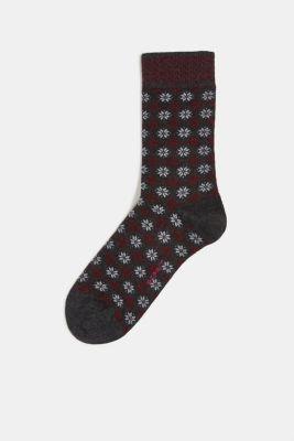 Socks with Fair Isle pattern, ANTHRA.MEL, detail