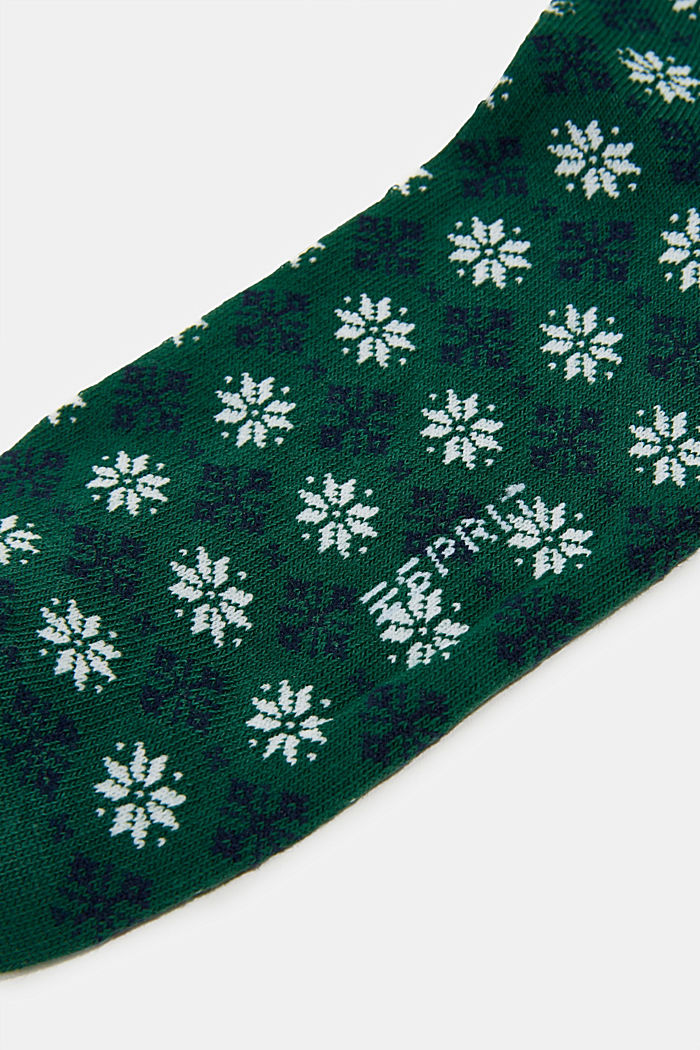 Socks with Fair Isle pattern, FIRE TREE, detail image number 2