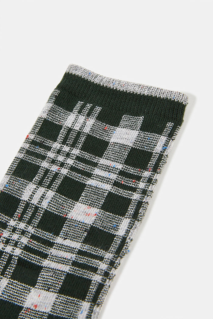 Socks with check pattern, FIRE TREE, detail image number 2