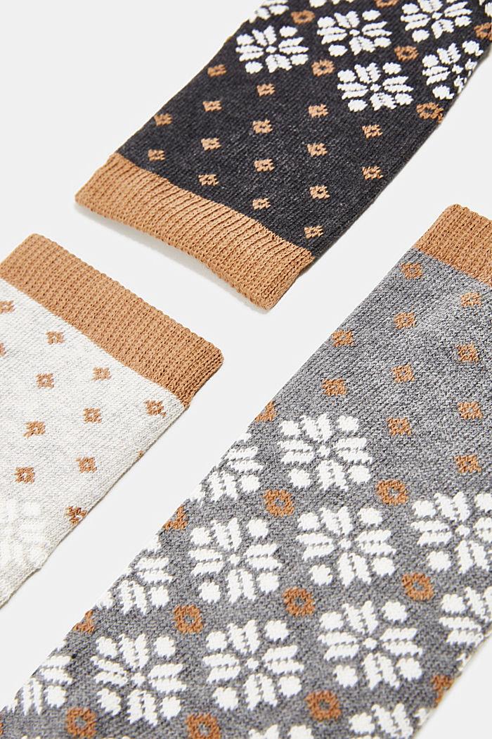 Pack de tres pares de calcetines con diseño estilo noruego , GREY/BEIGE, detail image number 2