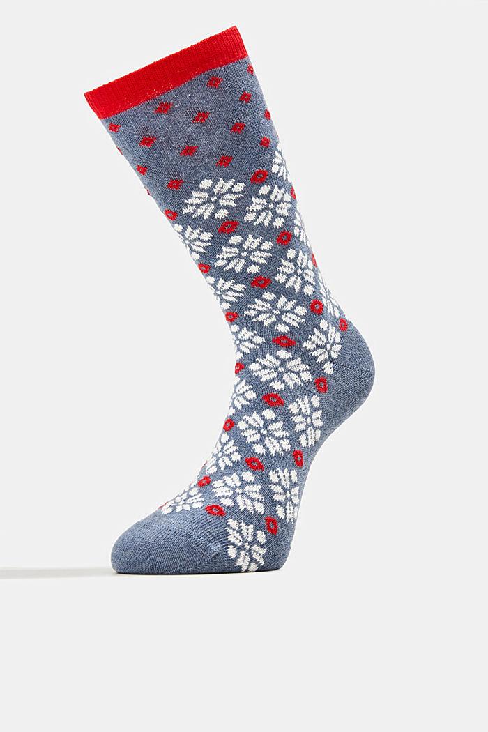 Pack de tres pares de calcetines con diseño estilo noruego